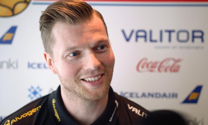 Arnór Þór Gunnarsson er alltaf vel studdur af fjölskyldu sinni.