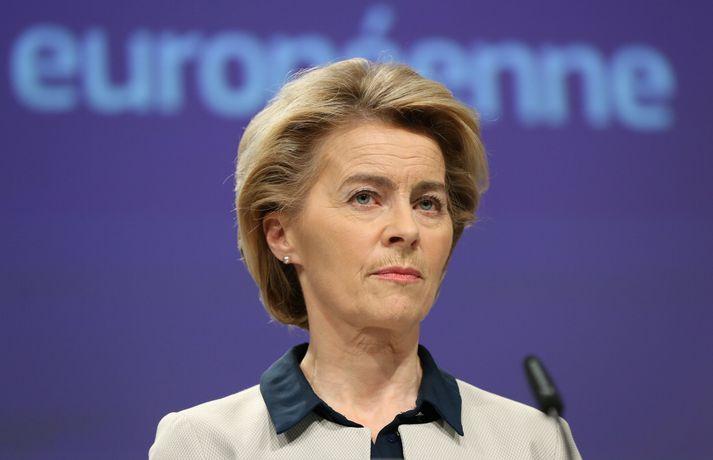 Ursula von der Leyen, forseti framkvæmdastjórnar ESB, ræddi við Katrínu Jakobsdóttur, forsætisráðherra, í síma í dag. Framkvæmdastjórnin ákvað að undanskilja EFTA-ríkin útflutningsbanninu á fundi í kvöld.