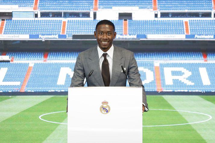 David Alaba var formlega kynntur til leiks hjá Real Madrid í gær.