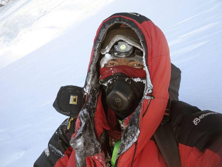 Mingma Gyalje leiddi hópinn sem komst á tind K2 í janúar, fyrstur allra að vetrarlagi.