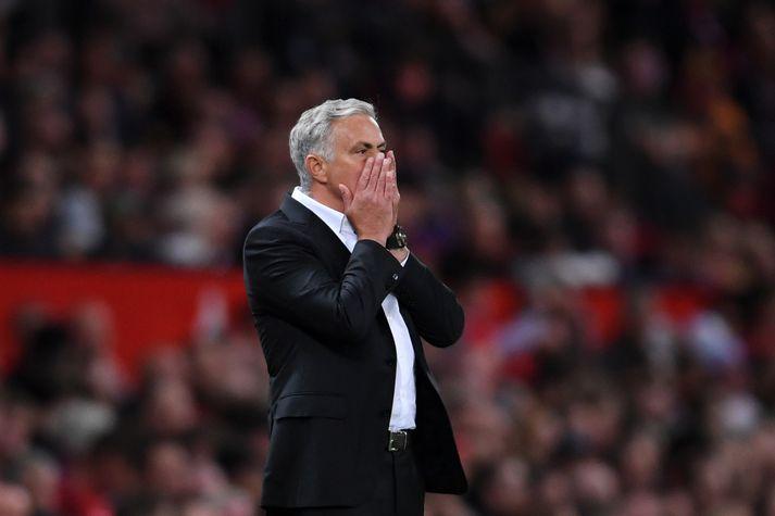 Mourinho var líflegur á hliðarlínunni í kvöld.