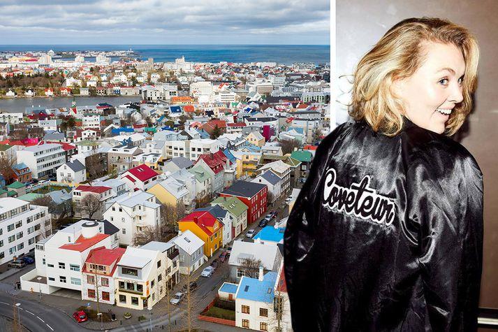 Katie Becker hafði nóg að gera á Íslandi.
