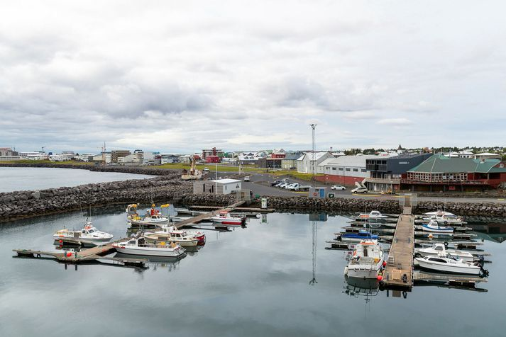 Frá smábátahöfninni í Reykjanesbæ.