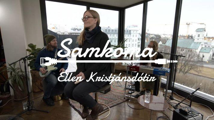 Ellen Kristjánsdóttir er önnur á svið í tónleikaröðinni Samkomu.