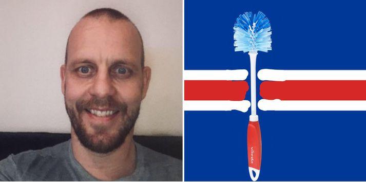Ónefndi maðurinn með uppþvottaburstann er ekki Benedikt Grétarsson.