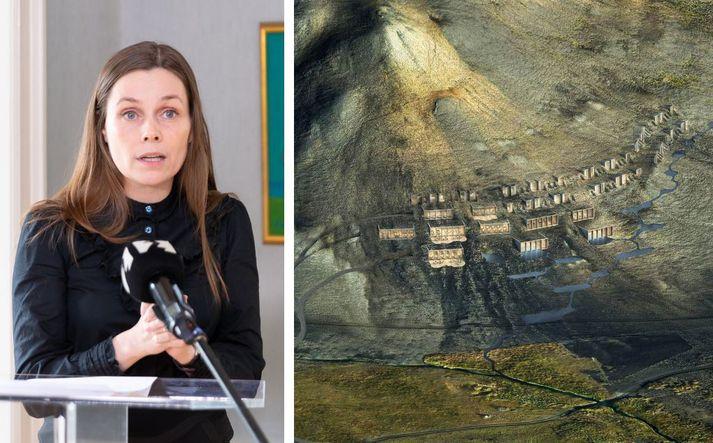 Ætlunin er að reisa 5.000 fermetra hótelbyggingu og baðaðstöðu sem geti rúmað á bilinu 40-45 herbergi eða um hundrað gesti.