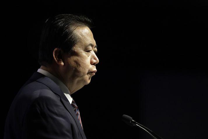 Meng Hongwei, forseti alþjóðalögreglunnar Interpol, er nú í haldi kínverskra stjórnvalda.