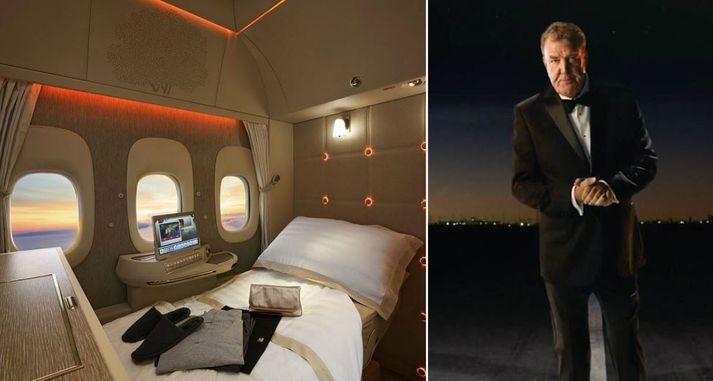 Fínt að vera á fyrsta farrými hjá Emirates.