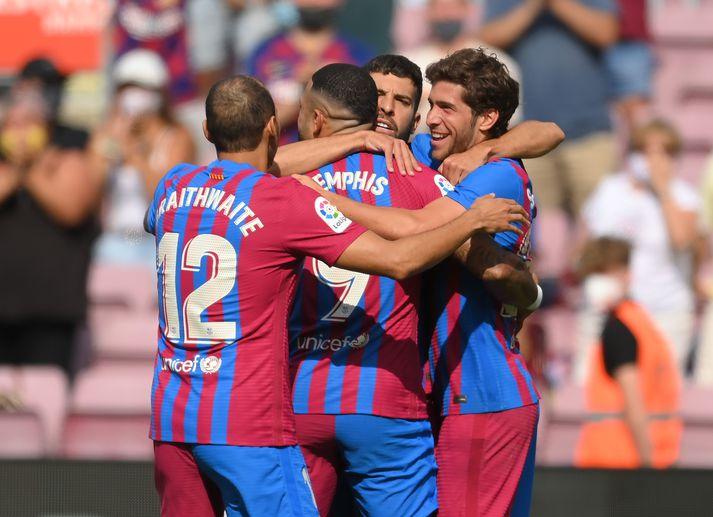 Barcelona vann öruggan sigur í dag.