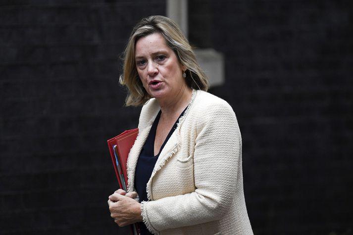 Amber Rudd, fyrrverandi atvinnu og eftirlaunaráðherra Bretlands.