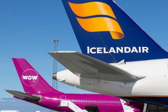 Icelandair á meðal annars í harðri samkeppni við WOW air.