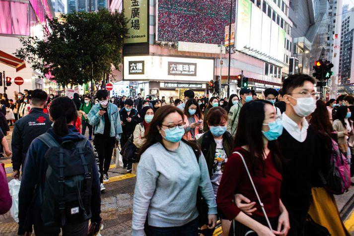 Frá Hong Kong þar sem neyðarástandi hefur verið lýst yfir vegna faraldursins.