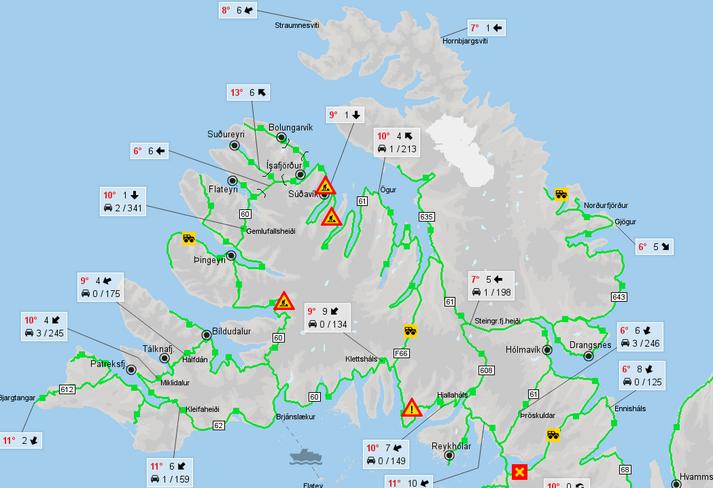 Vegur 690 í Gilsfirði er lokaður.