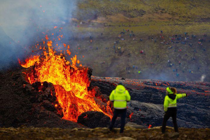 Eldgos í Geldingadal á Reykjanesi