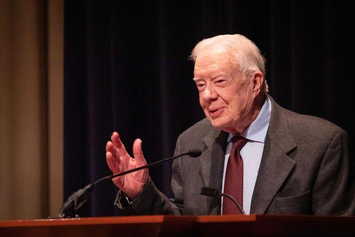 Carter var 39. forseti Bandaríkjanna, gegndi embættinu á árunum 1977 til 1981.