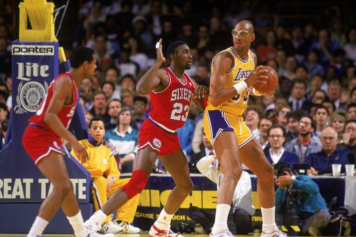 Jabbar átti glæsilegan feril í NBA