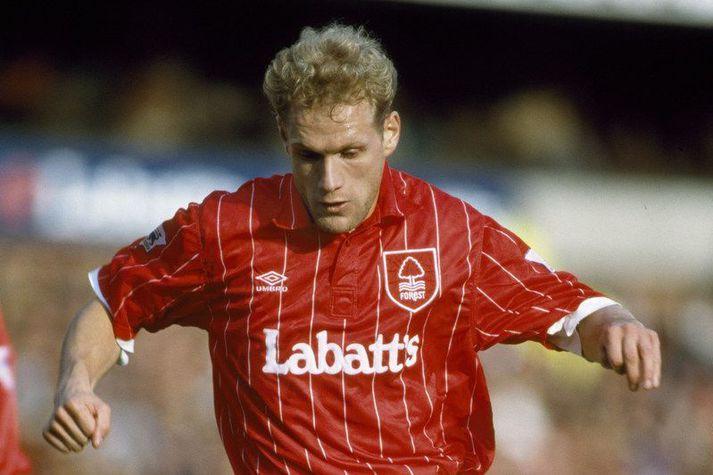 Þorvaldur Örlygsson í leik með Nottingham Forest í ensku úrvalsdeildinni.