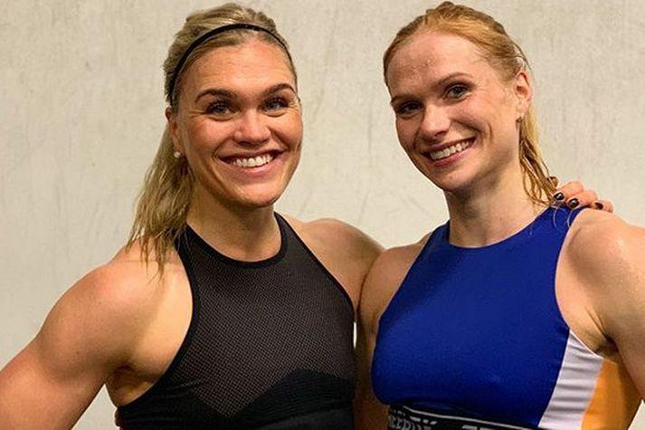 Anníe Mist Þórisdóttir og Katrín Tanja Davíðsdóttir.