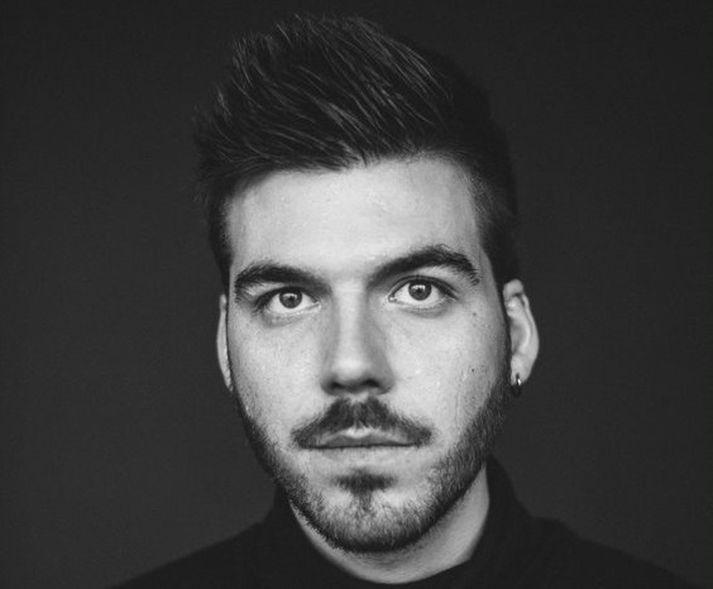 Einar Hrafn vakti mikla athygli í Eurovision í fyrra í hlutverki gimpsins.
