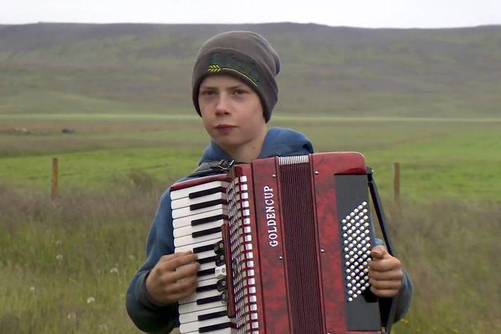 Heimir Sigurpáll Árnason, þrettán ára bóndasonur í Sveinungsvík.
