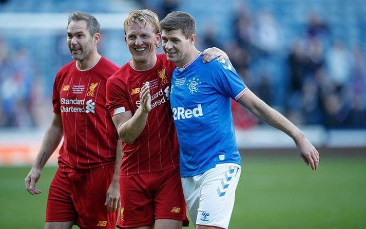 Kuyt og Gerrard léttir.
