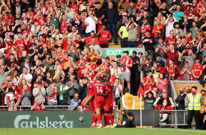 Liverpool er nú á toppi ensku úrvalsdeildarinnar.