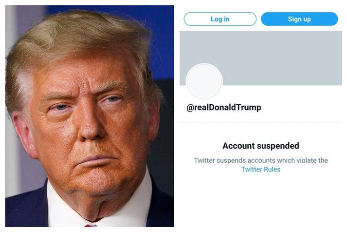 Donald Trumop, forseti Bandaríkjanna hefur farið mikinn á Twitter í gegnum árin.