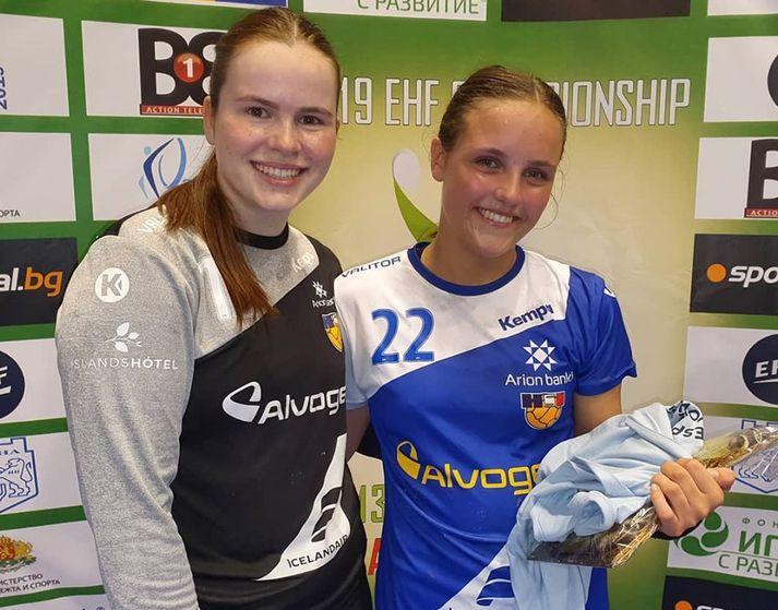 Tinna Sól Björgvinsdóttir var markahæst hjá Íslandi gegn Grikklandi með sex mörk. Sara Sif Helgadóttir varði 13 skot í marki Íslands.