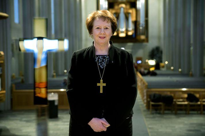Agnes M. Sigurðardóttir, biskup þjóðkirkjunnar á Íslandi, hækkar verulega í launum. Fréttablaðið/Vilhelm