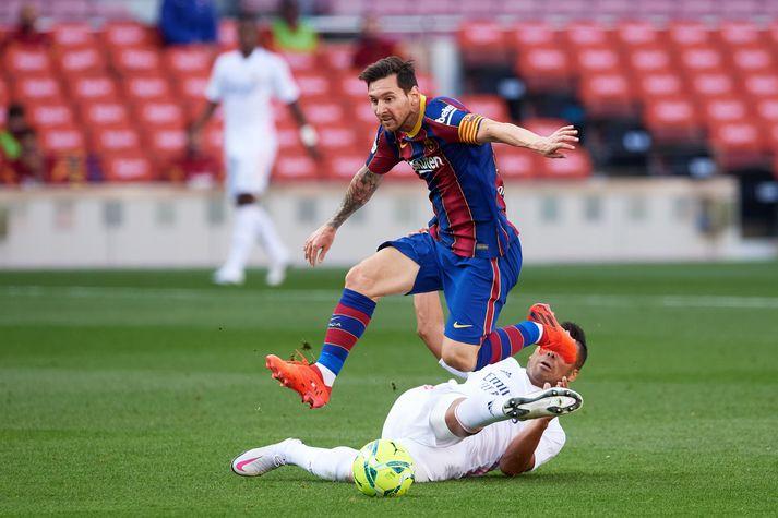 Allra augu verða á Lionel Messi í kvöld.