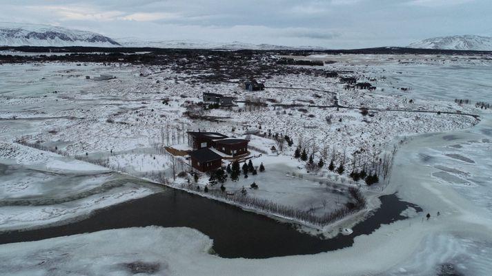 Þessi mynd var tekin í síðustu viku og sýnir aðstæður eins og þær voru þá.
