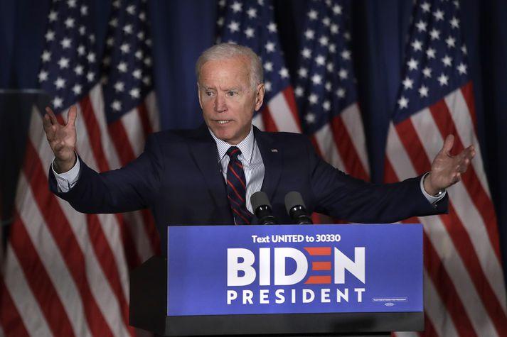 Joe Biden segir Trump þegar hafa sakfellt sjálfan sig með orðum sínum og gjörðum.