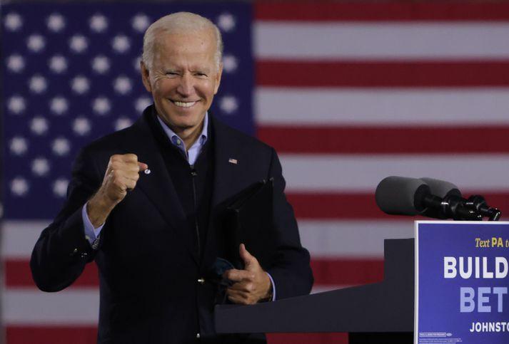 Joe Biden verður ekki skotaskuld úr því að safna fylgjendum en það er alls óvíst að hann fái hörðustu stuðningsmenn Trump til að verða vinir @POTUS á ný.