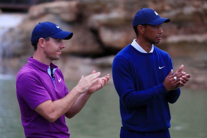 Rory McIlroy og Tiger Woods er vel til vina.