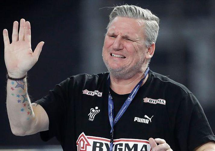 Nikolaj Jacobsen á HM í janúar þar sem Danir stóðu uppi sem sigurvegarar.