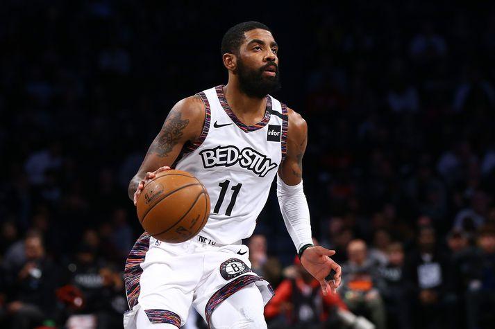 Kyrie í leik með Brooklyn Nets í vetur.