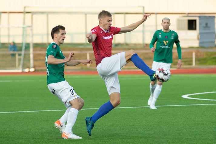 Pedersen skoraði þrennu gegn Leikni.