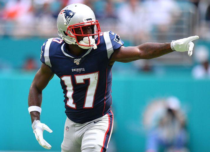 Útherjinn Antonio Brown skipti yfir til New England Patriots á dögunum