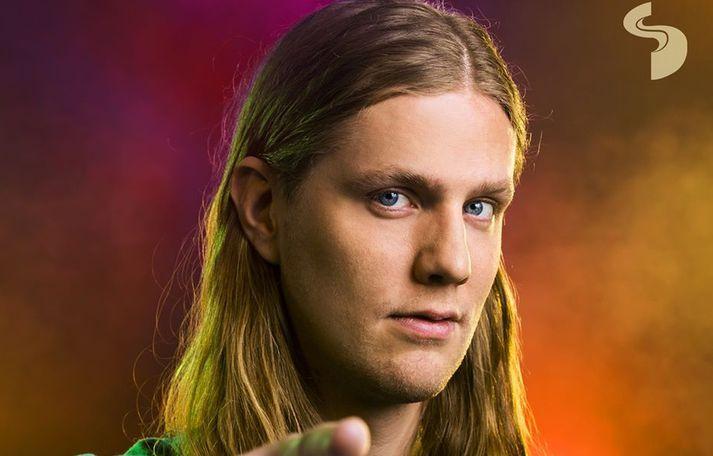 Daði Freyr slær á létta strengi í viðtalinu.