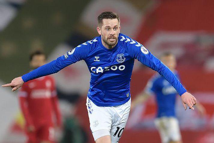 Gylfi kom vel inn í lið Everton í gær.