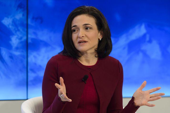 Sheryl Sandberg framkvæmdastjóri Facebook stýrir daglegum rekstri fyrirtækisins.