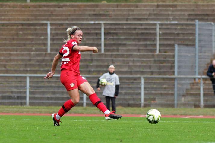 Sandra María í leik með Leverkusen