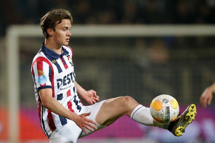 Kristófer Ingi í leik með Willem II í hollensku deildinni þar sem hann lék á árunum 2017-2019.