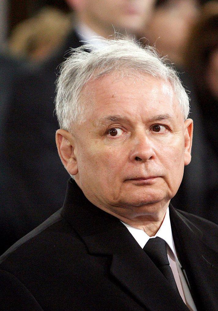 Jaroslaw Kaczynski er leiðtogi  Laga og reglu. Nordicphotos/AFP