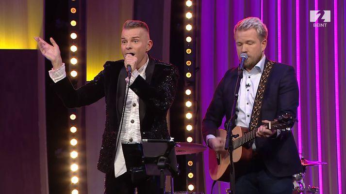 Palli og Sóli fóru á kostum í beinni á Stöð 2 á föstudagskvöldið.