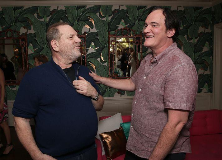 Havey Weinstein og Quentin Tarantino í febrúar síðastliðinn.