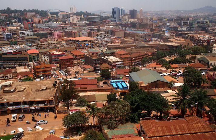 Ljósmynd frá Kampala.