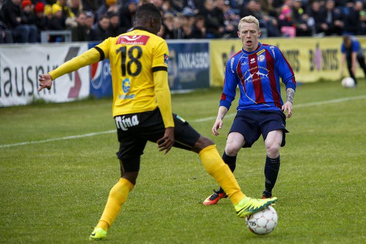 Kristján Páll Jónsson lagði upp sigurmark Leiknis.