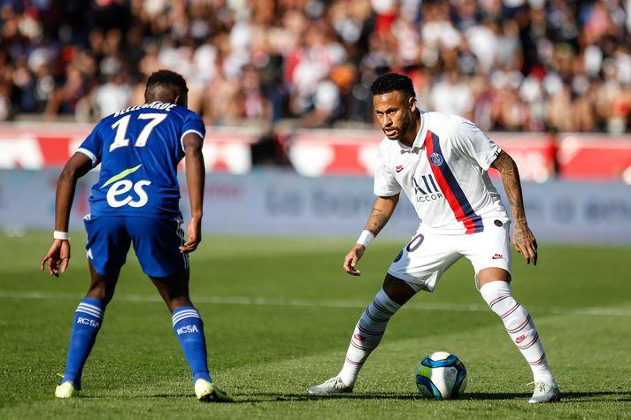 Neymar í leiknum á laugardag.