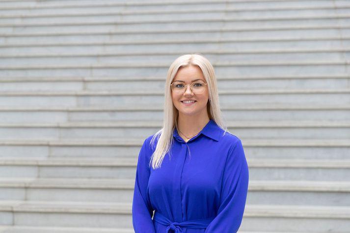 Jóna Þórey Pétursdóttir, forseti SHÍ.
